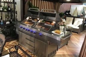 户外厨房烧烤炉案例